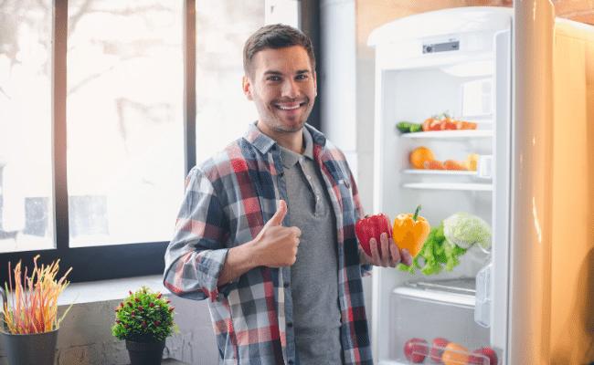 צריכת מזון בריא אצל גברים